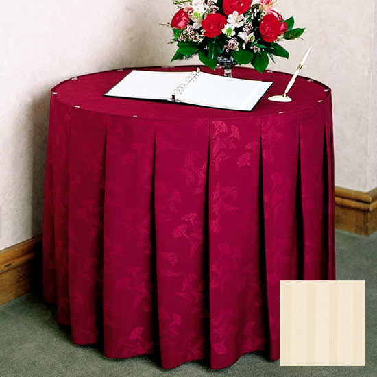 Snap Drape 5FSMEL63030 IVRY 6-ft Melrose Fitted Table Cover Set w/ Continuous Pleat, Ivory