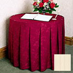 Snap Drape 5FSMEL83030 IVRY 8-ft Melrose Fitted Table Cover Set w/ Continuous Pleat, Ivory