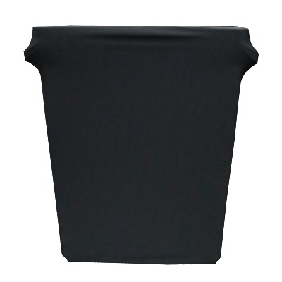 Snap Drape BSTCC16SJBLK 16-Gallon Stretch Cover for Rubbermaid Slim Jim Trash Cans - Polyester/Spandex, Black