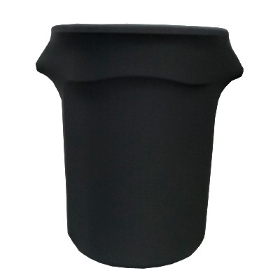 Snap Drape BSTCC44BLK 44-Gallon Stretch Cover for Rubbermaid Brute Trash Cans - Polyester/Spandex, Black