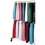 Snap Drape CAD20 70-in Mobile Caddy w/ 1-in Hanging Rod, Holds 20 SkirtMate Hangers
