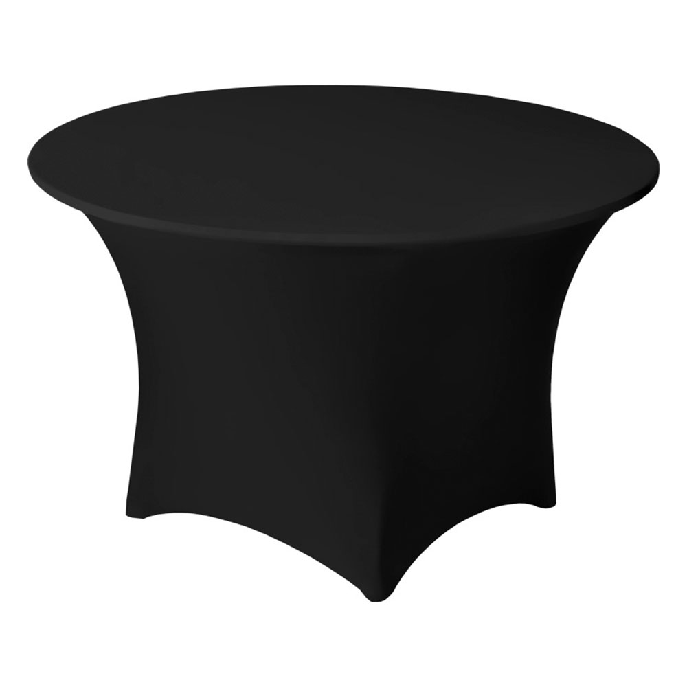 "Snap Drape CC48R BLK Contour Cocktail Table Cover Fits 48"" Round Table, Black"