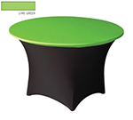 Snap Drape CC48R LMGRN Contour Cocktail Table Cover Fits 48-in Round Table, Lime Green
