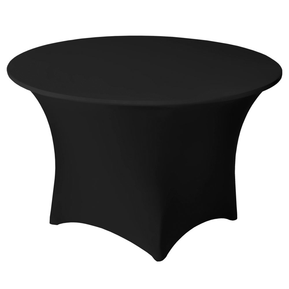 "Snap Drape CC60R BLK Contour Cocktail Table Cover Fits 60"" Round Table, Black"