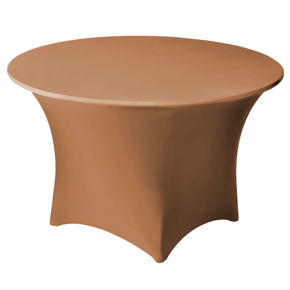 Snap Drape CC60R SDLWD Contour Cocktail Table Cover Fits 60-in Round Table, Sandlewood