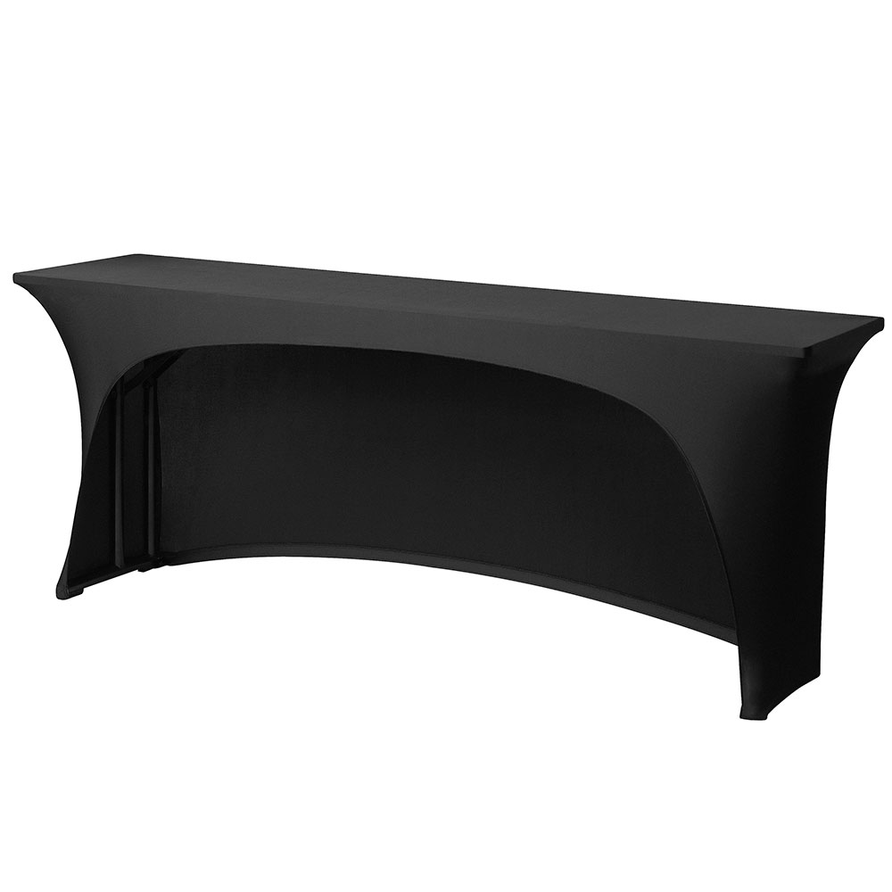 Snap Drape CC630CC BLK Contour-Cut Table Cover, Snug Fit, 6-ft x 30-in Tables, Black