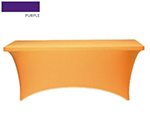 "Snap Drape CC630 PUR Contour Table Cover w/ Rubber Cup On Leg, Fits 6-ft x 30"" Table, Purple"