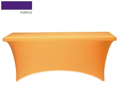 Snap Drape CC630 PUR Contour Table Cover w/ Rubber Cup On Leg, Fits 6-ft x 30-in Table, Purple