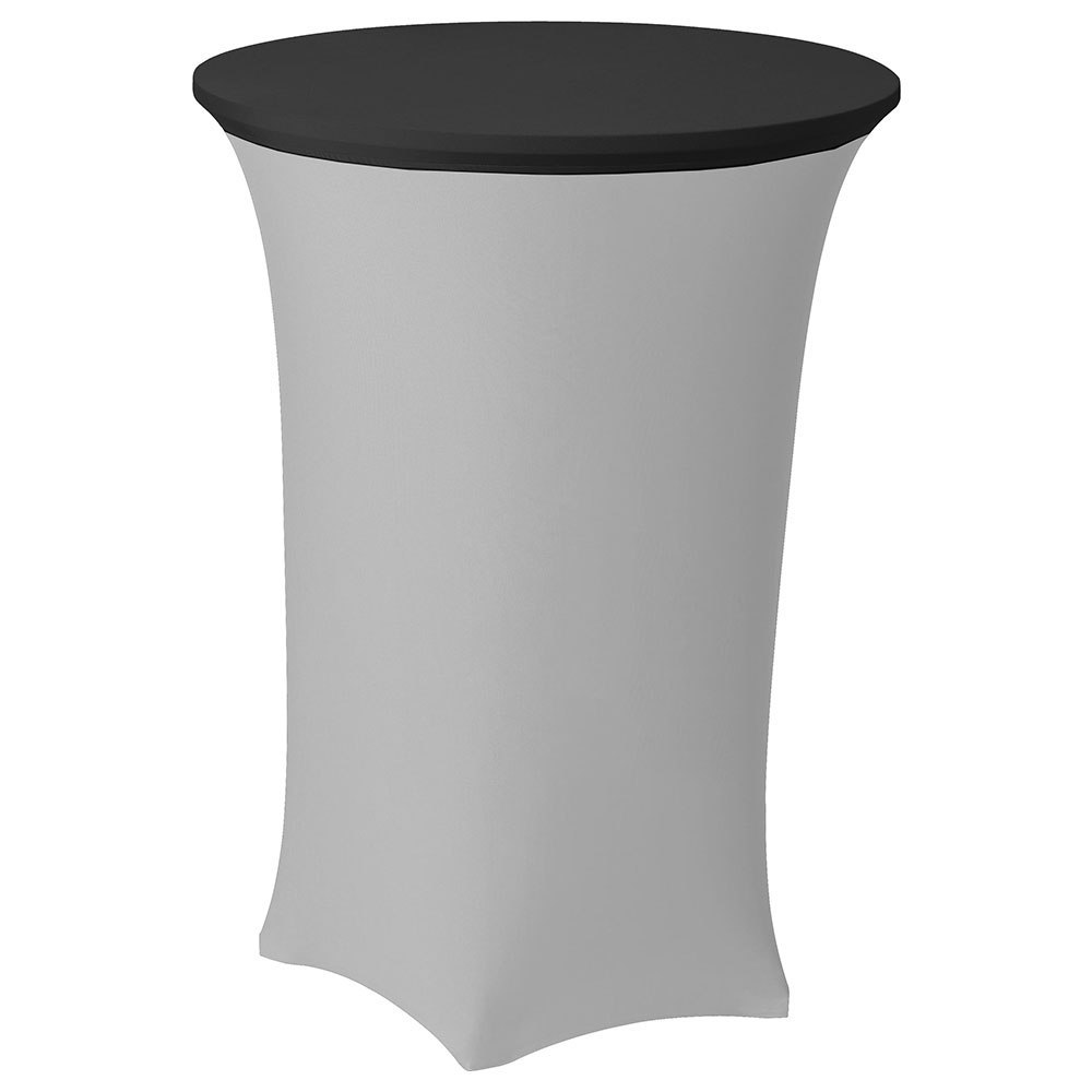 "Snap Drape CCAP30R BLK Contour Table Cover Cap for 30"" Round Table, Poly/Spandex, Black"
