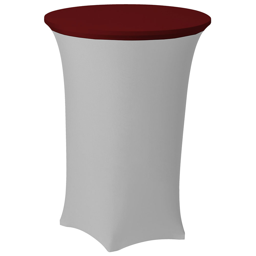 Snap Drape CCAP30R CRIM Contour Table Cover Cap For 30-in Round Table, Poly/Spandex, Crimson
