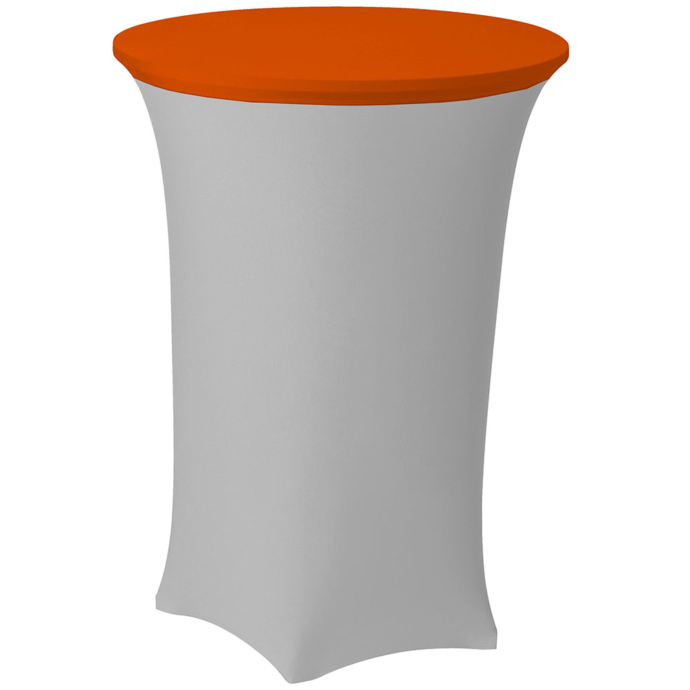 Snap Drape CCAP30R MAN Contour Table Cover Cap For 30-in Round Table, Poly/Spandex, Mango