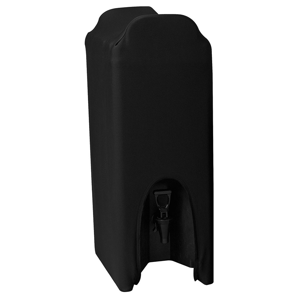 Snap Drape CCBDC25 BLK Contour 2.5-Gallon Beverage Dispenser Cover, Snug Fit, Black