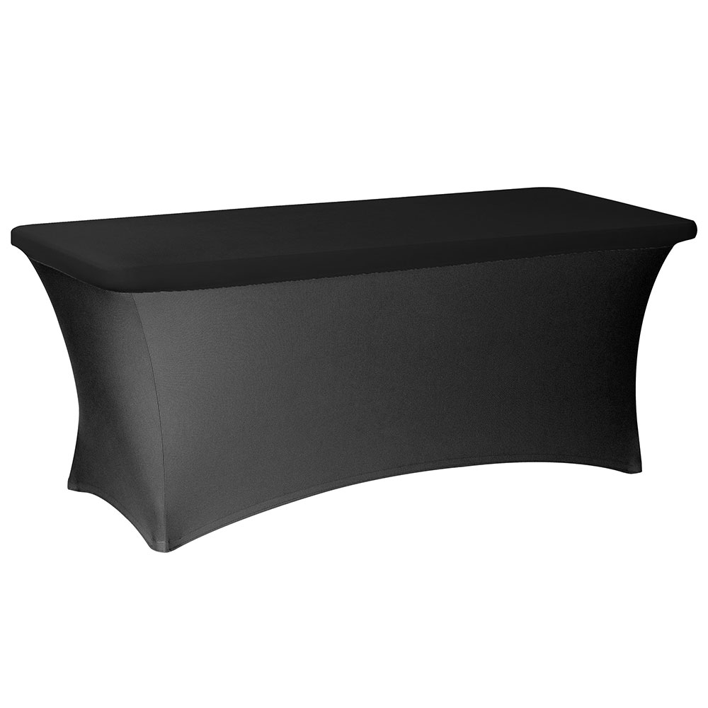 Snap Drape CCCAP630 BLK Contour Table Cover Cap Fits 6-ft x 30-in Tables, Black