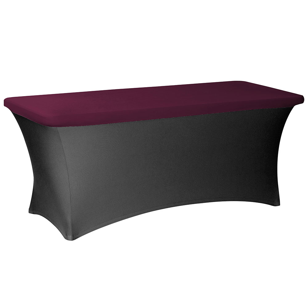 "Snap Drape CCCAP830 BGDY Contour Table Cover Cap Fits 8-ft x 30"" Tables, Burgundy"