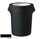 Snap Drape CCTCC32 BLK Black, Round Fitted Trash Can Cover, 32-gal