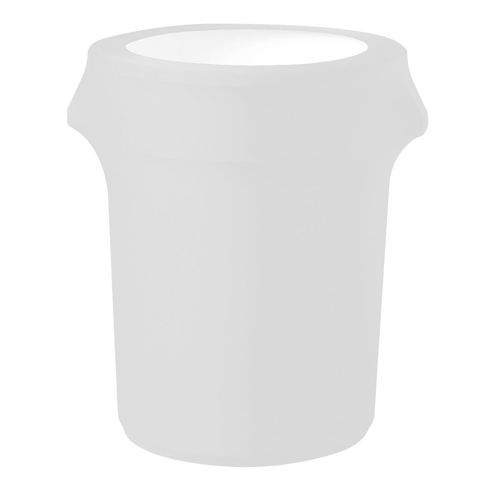 Snap Drape CCTCC44 WHT 44-Gallon Trash Can Cover, Snug Fit, Poly/Spandex, White