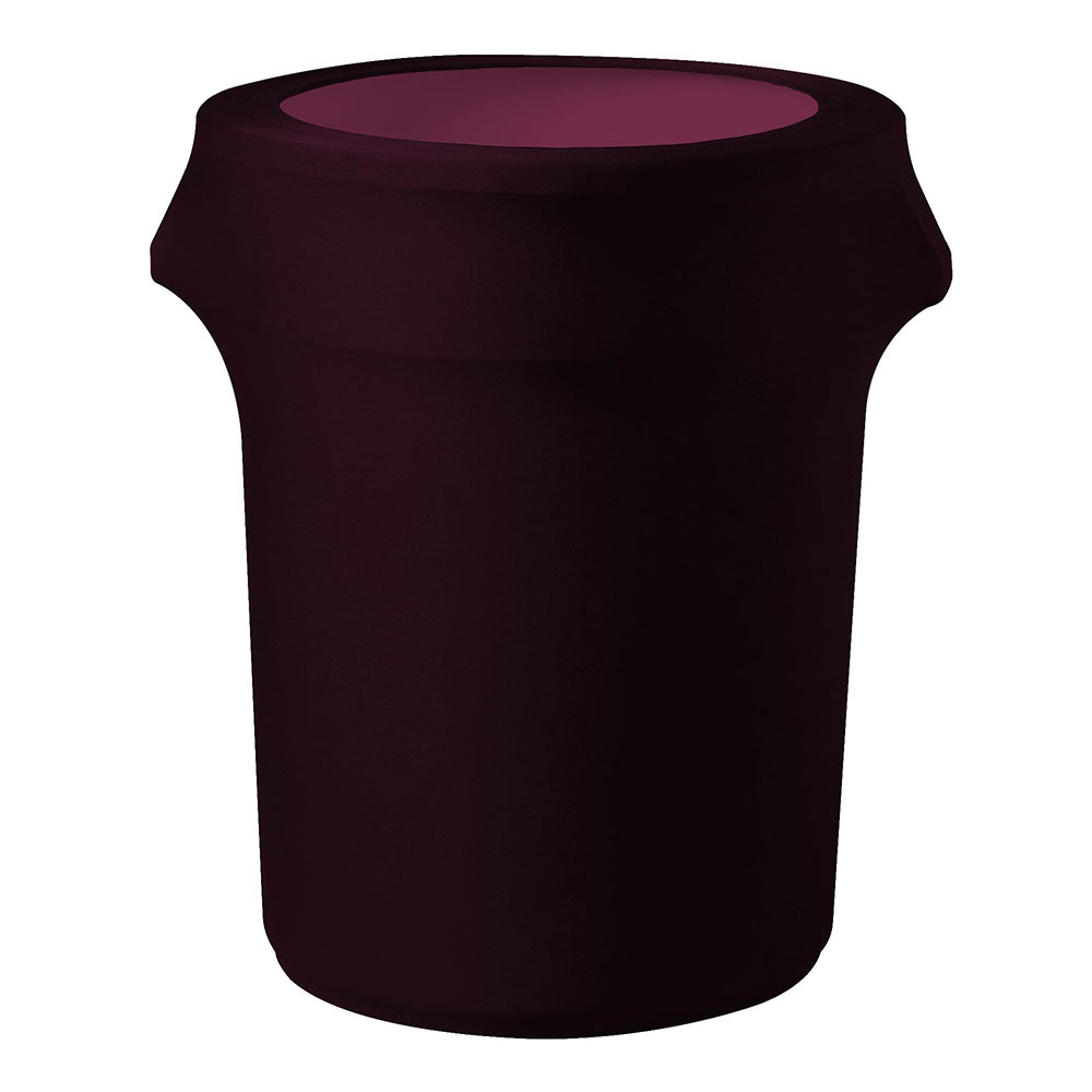 Snap Drape CCTCC55 BGDY Burgundy, Round Fitted Trash Can Cover, 55-gal