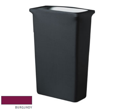 Snap Drape CCTCCSJ BGDY Slim Jim Trash Can Cover, Snug Fit, Poly/Spandex, Burgundy