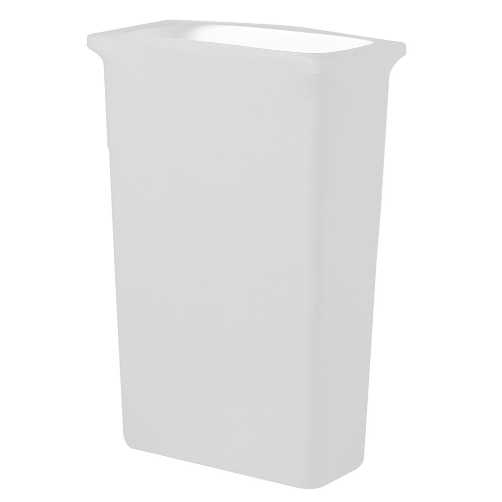 Snap Drape CCTCCSJ WHT White, Rectangle Fitted Trash Can Cover, 16-gal