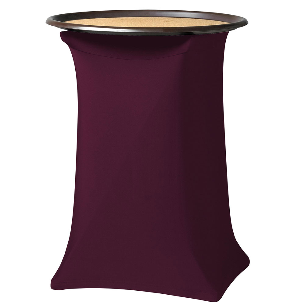 Snap Drape CCTRAY30 BGDY Contour Tray Stand Cover Fits Up To 30-in High, Burgundy