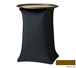 """Snap Drape CCTRAY30 CHOC Contour Tray Stand Cover Fits Up To 30"""" High, Chocolate"""