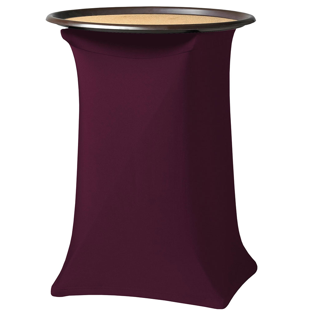 "Snap Drape CCTRAY31 BGDY Contour Tray Stand Cover Fits Over 30"" High, Burgundy"