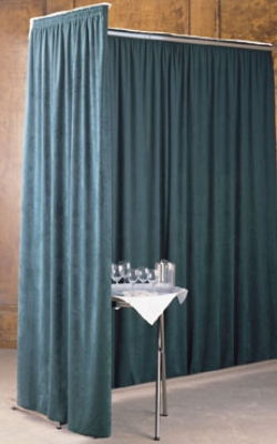 Snap Drape EMDIV Divider System w/ Adjustable Glides, Width From 8-ft To 10-ft