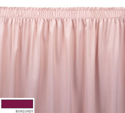 Snap Drape ENC1S1329 BUR Encore 13-ft Table Skirt, Shirred Pleat, Snap Attachment, Burgundy