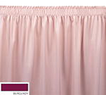 Snap Drape ENC1V1329 BUR Encore 13-ft Table Skirt, Shirred Pleat, Velcro Attachment, Burgundy