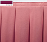 Snap Drape ENC2V21629 BUR Encore 21.5-ft Table Skirt, Accordion Pleat, Velcro Attachment, Burgundy