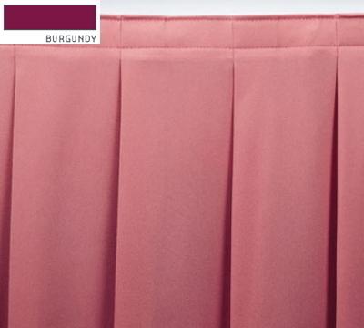 Snap Drape ENC2V21629 BUR Encore 21.5-ft Table Skirt, Accordion Pleat, Velcro Attachment, Burgundy