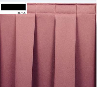 Snap Drape ENC3V17629 BLK Encore 17.5-ft Table Skirt, Boxed Pleat, Velcro Attachment, Black