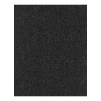 "Snap Drape FPFSSAV48SERP BLK Savoy Fitted Table Cover Set, 48"" Radius, Serpentine, Black"