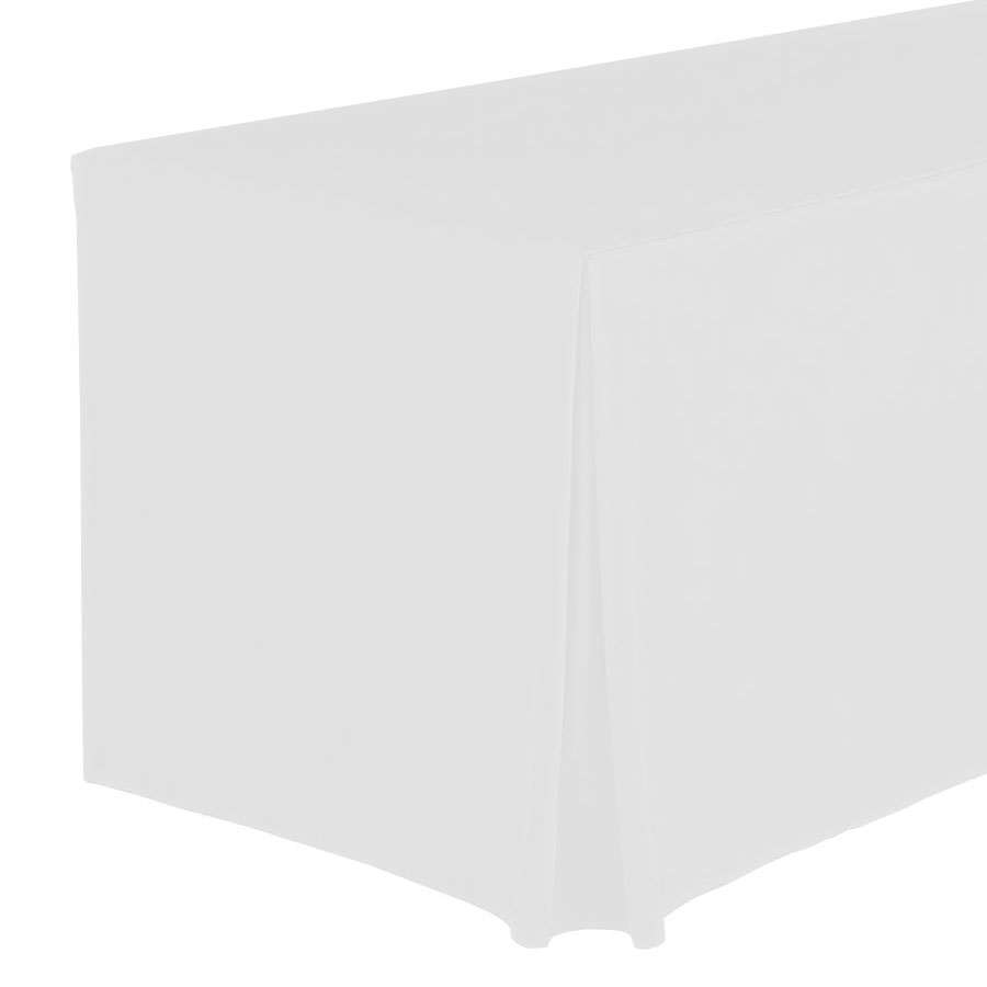 Snap Drape FPFSWYN83030 WHT Wyndham Fitted Table Cover Set, Flat-Panel, 8-ft x 30-in, White