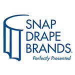 Snap Drape MAR3S17629 BLK Marquis 17.5-ft Table Skirt, Boxed Pleat, Snap Attachment, Black