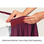 Snap Drape MAR1V1329 WHT Marquis 13-ft Table Skirt, Shirred, Velcro Attachment, White