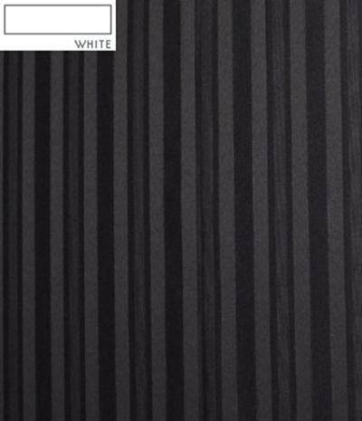 Snap Drape MEL5V17629 WHT Melrose 17.5-ft Table Skirt, Continuous Pleat, Velcro Attachment, White