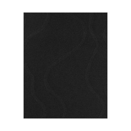 Snap Drape NAPWAV1717HDK BLK Wave 17-in x 17-in Hemmed Napkin, Damask Pattern, Black