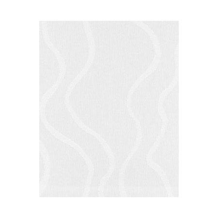 Snap Drape NAPWAV1717OWH Wave 17-in x 17-in Overlocked Napkin w/ Damask Pattern, White