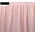 Snap Drape OMN1V1329 BLK Omni 13-ft Table Skirt w/ Shirred Pleat, Velcro Attachment, Black