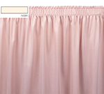 Snap Drape OMN1V1329 IVRY Omni 13-ft Table Skirt w/ Shirred Pleat, Velcro Attachment, Ivory