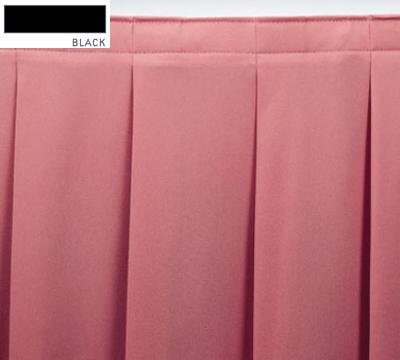 Snap Drape OMN2S17629 BLK Omni 17.5-ft Table Skirt w/ Accordion Pleat, Snap Attachment, Black