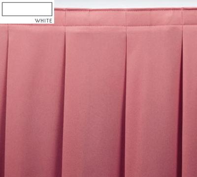 Snap Drape OMN2V17629 WHT Omni 17.5-ft Table Skirt, Accordion Pleat, Velcro Attachment, White