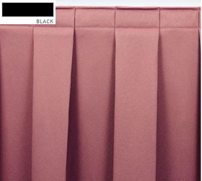 Snap Drape OMN3S17629 BLK Omni 17.5-ft Table Skirt w/ Boxed Pleat, Snap Attachment, Black