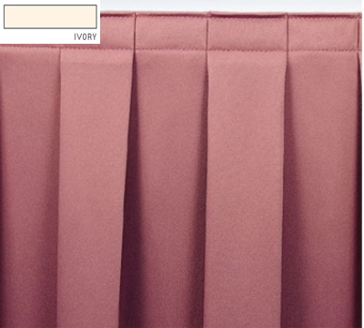 Snap Drape OMN3S17629 IVRY Omni 17.5-ft Table Skirt w/ Boxed Pleat, Snap Attachment, Ivory