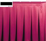 Snap Drape OMN5S17629 BLK Omni 17.5-ft Table Skirt, Continuous Pleat, Snap Attachment, Black