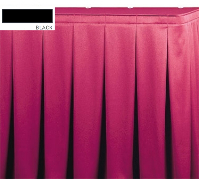 Snap Drape OMN5S17629 BLK Omni 17.5-ft Table Skirt, Continuous Pleat, Snap Attachment, Black