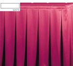Snap Drape OMN5V1329 WHT Omni 13-ft Table Skirt, Continuous Pleat, Velcro Attachment, White
