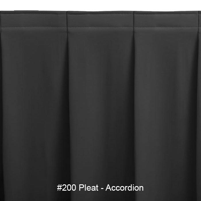 Snap Drape SAV2V21629 BLK Savoy 21.5-ft Table Skirt, Accordion Pleat, Velcro Attachment, Black