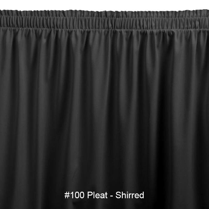 Snap Drape SEQ1V21629 BLK Sequel 21.5-ft Table Skirt, Shirred, Velcro Attachment, Black